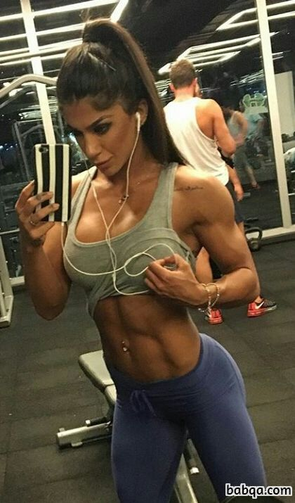 perfect woman with muscle body and muscle ass post from g+