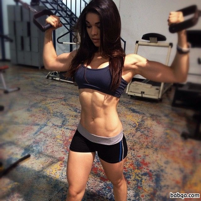 awesome female bodybuilder with muscle body and toned booty pic from linkedin