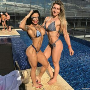 sexy female bodybuilder with muscular body and muscle arms pic from instagram