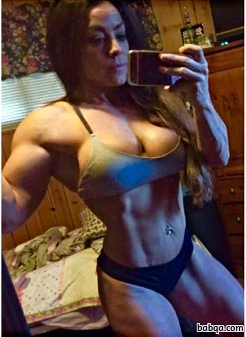 hot woman with muscular body and toned bottom photo from insta