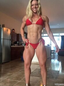 spicy female with fitness body and toned biceps repost from facebook