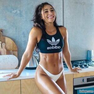 hottest female with fitness body and muscle legs image from linkedin
