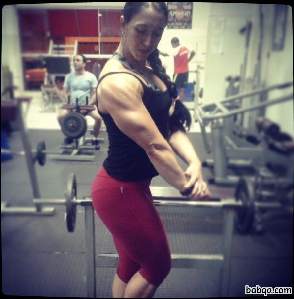 awesome woman with strong body and muscle ass pic from flickr