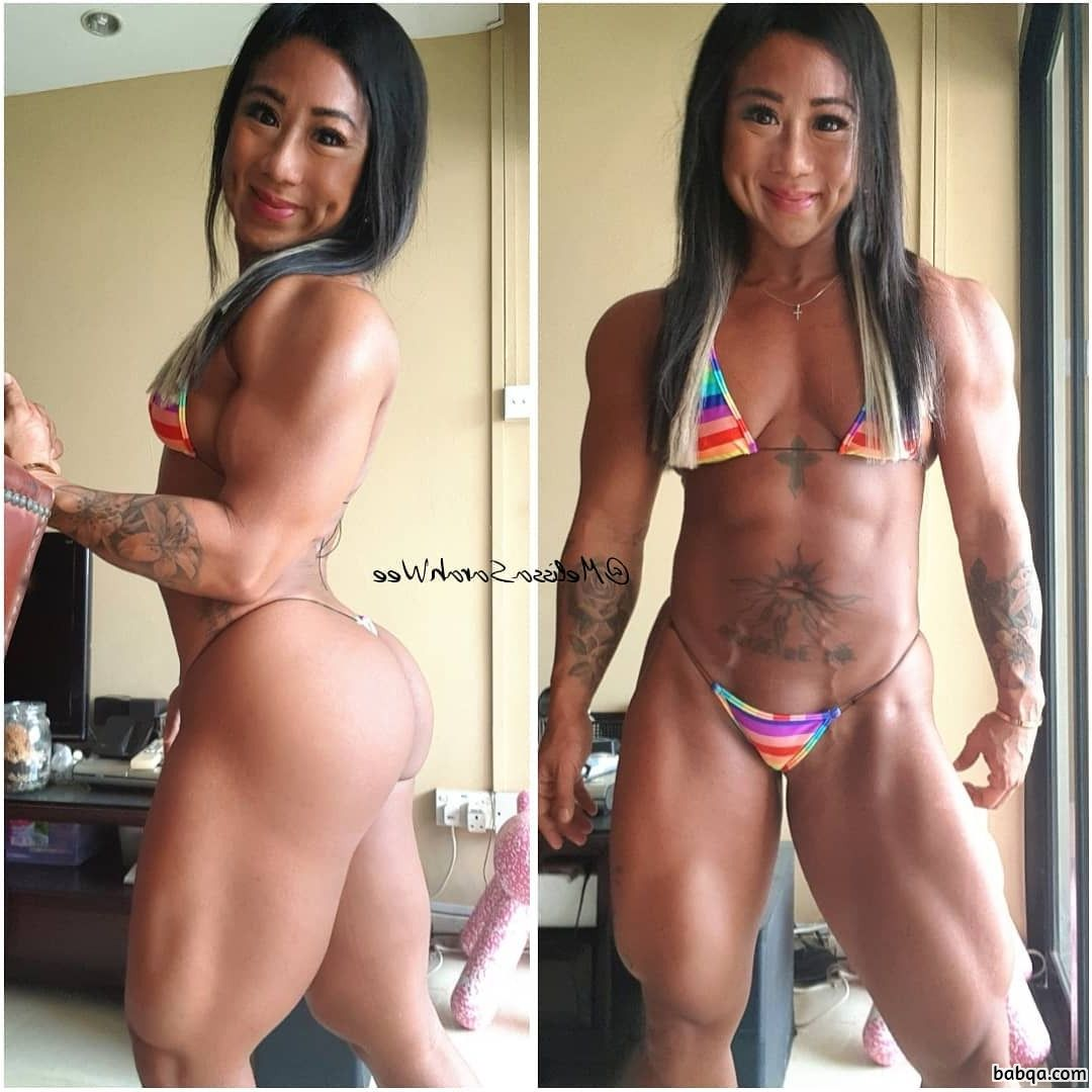 spicy woman with muscular body and muscle ass photo from insta