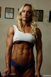 perfect babe with strong body and muscle legs image from flickr