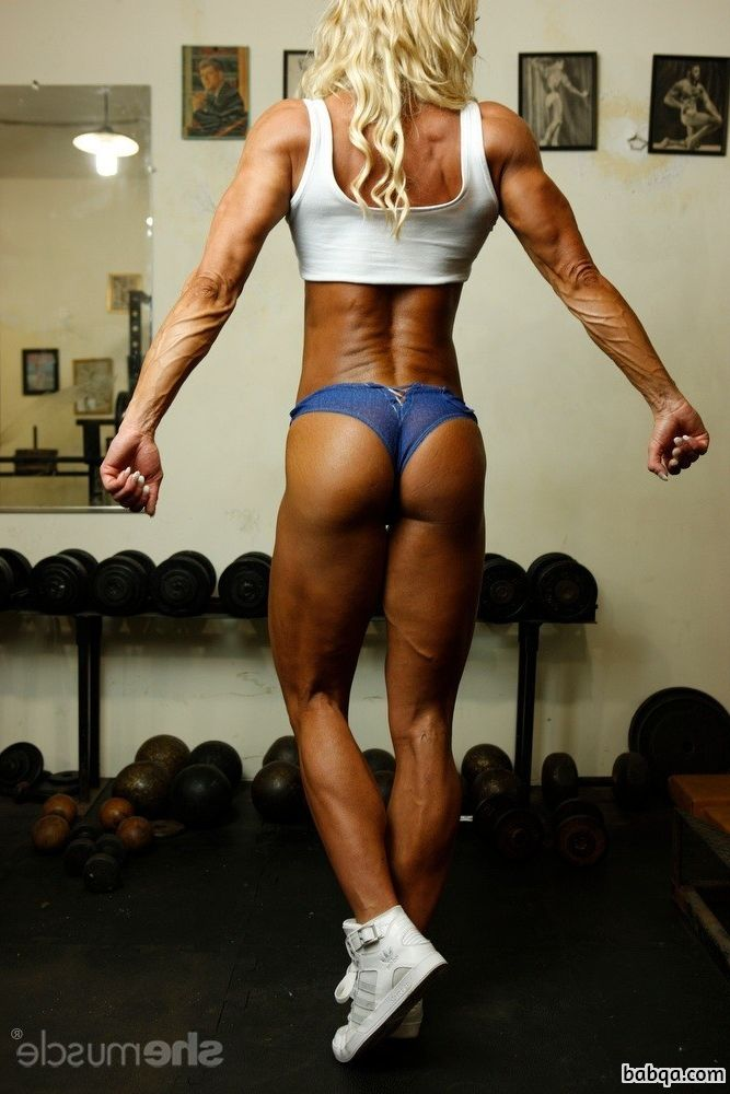 hottest woman with muscular body and muscle arms repost from flickr