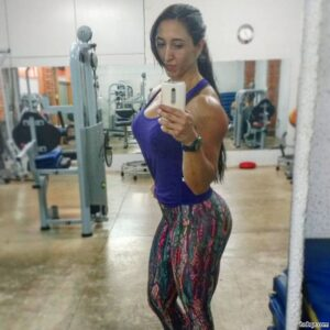 hottest girl with muscular body and toned booty pic from facebook