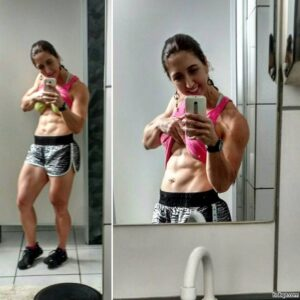 hottest female with muscular body and toned booty repost from tumblr