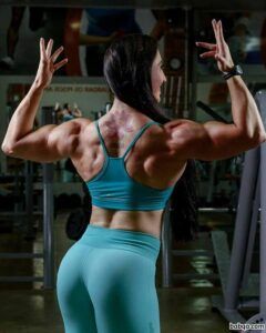 beautiful girl with muscular body and toned arms image from facebook