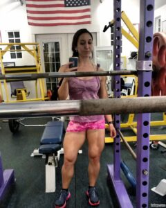 perfect babe with fitness body and muscle ass image from facebook