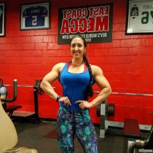 awesome lady with fitness body and muscle arms image from reddit