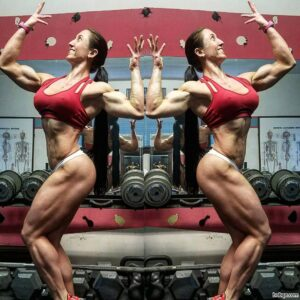 awesome female bodybuilder with muscular body and toned ass pic from tumblr