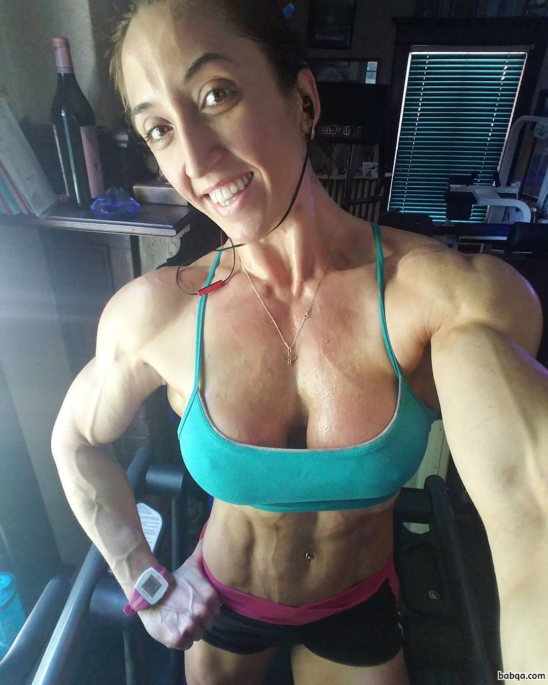 perfect lady with strong body and muscle arms repost from flickr