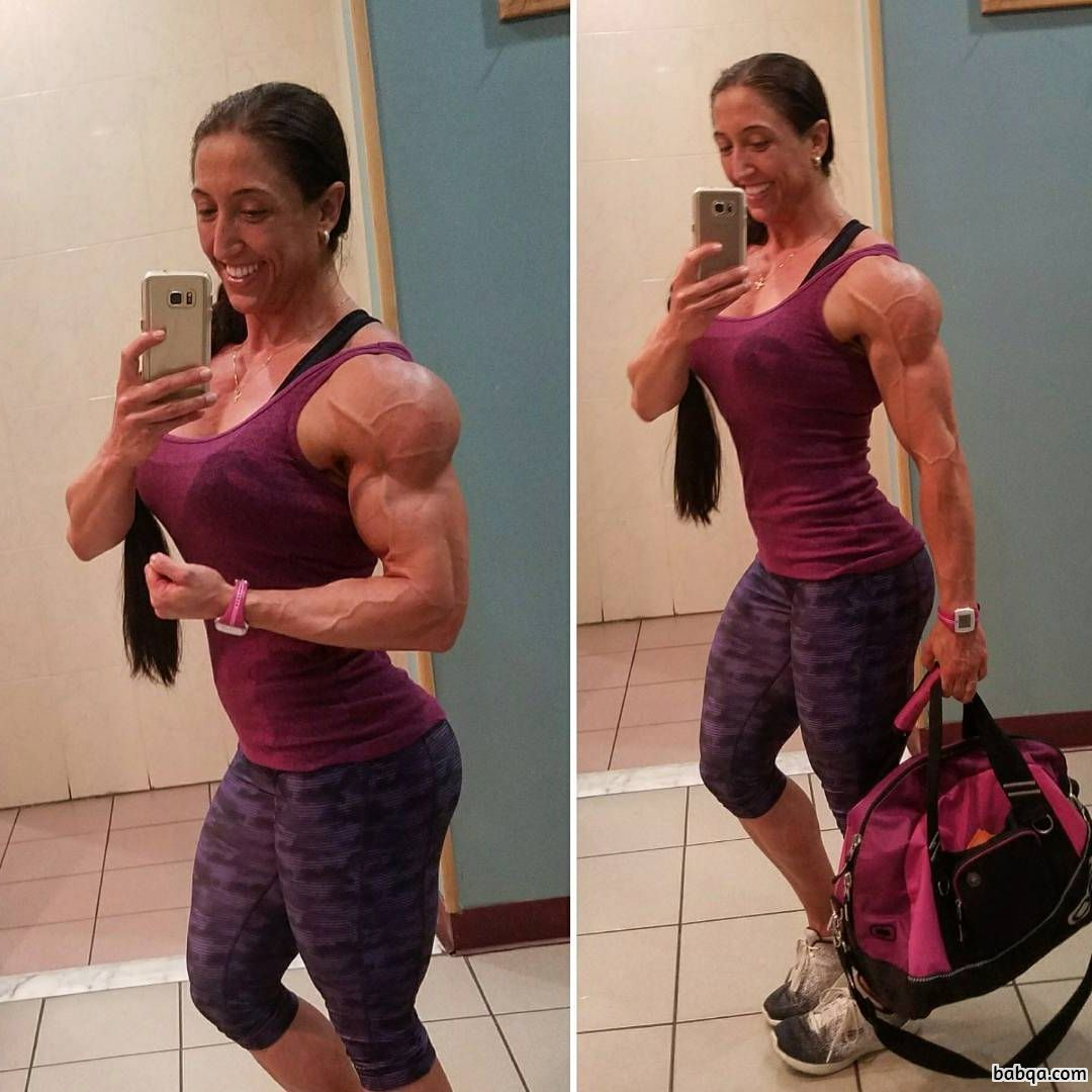 spicy female bodybuilder with muscle body and toned legs repost from g+