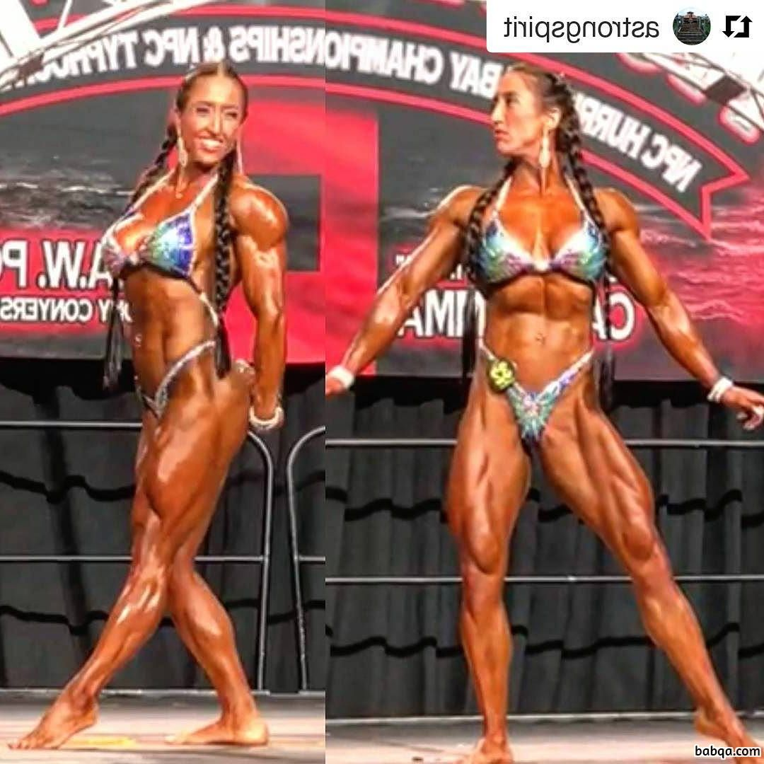awesome female bodybuilder with strong body and toned arms picture from g+