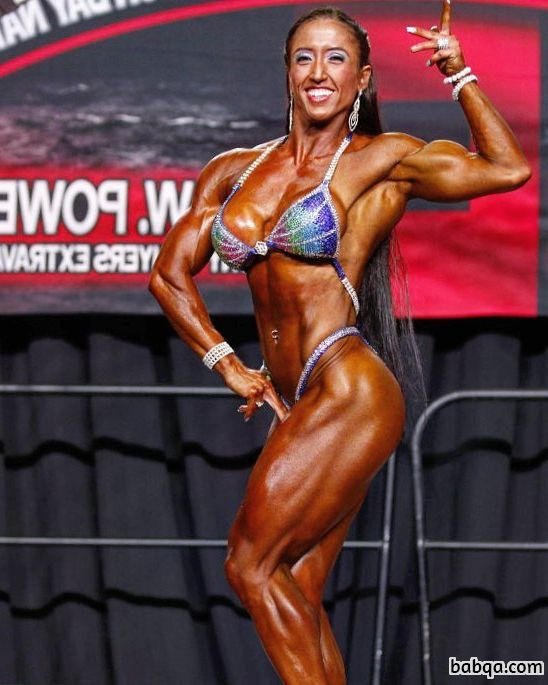 awesome female with strong body and muscle bottom repost from g+