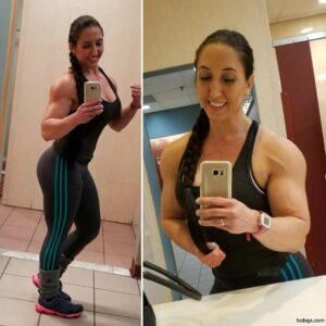 sexy female bodybuilder with muscular body and muscle booty image from instagram