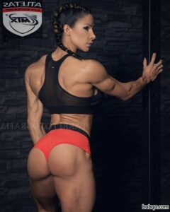 perfect chick with strong body and muscle biceps image from tumblr