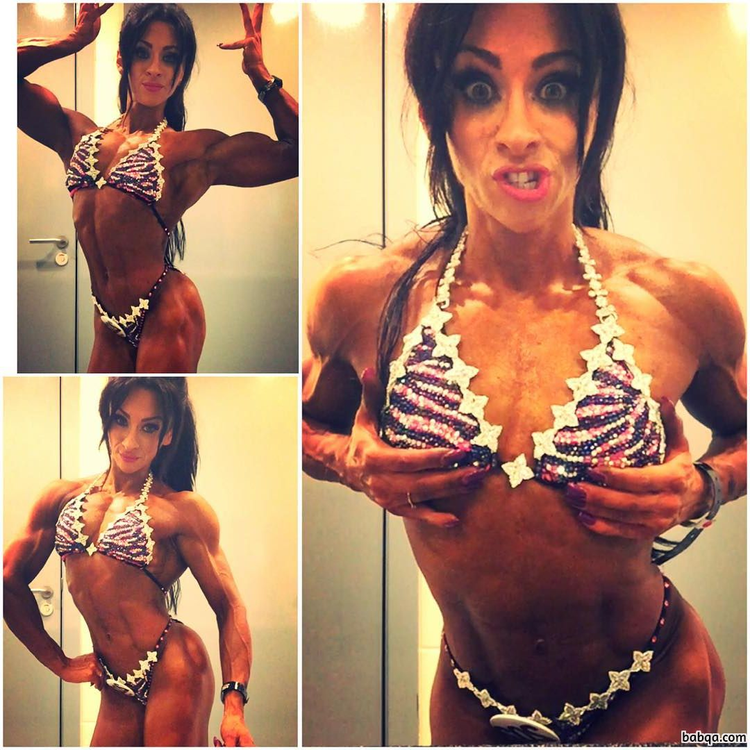 awesome female bodybuilder with strong body and toned legs picture from flickr