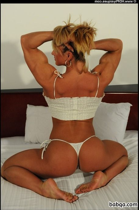 spicy female bodybuilder with muscular body and toned bottom repost from flickr