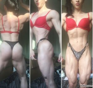 hot female bodybuilder with muscular body and toned biceps repost from tumblr