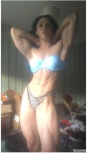 awesome female with muscular body and muscle ass picture from facebook