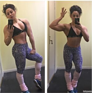 hottest woman with strong body and toned biceps image from tumblr