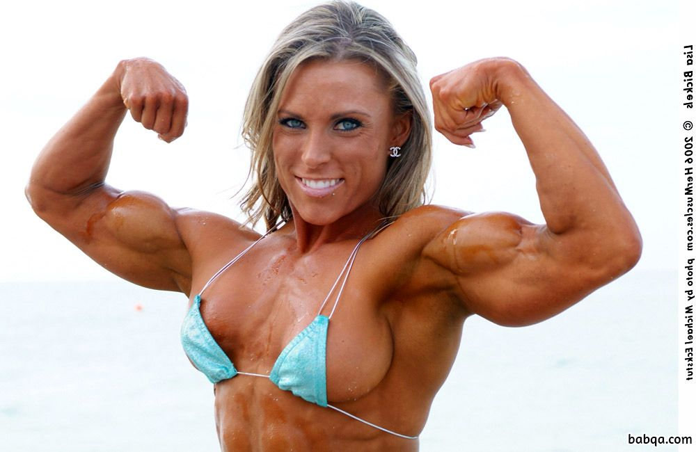 hottest chick with fitness body and muscle legs photo from g+