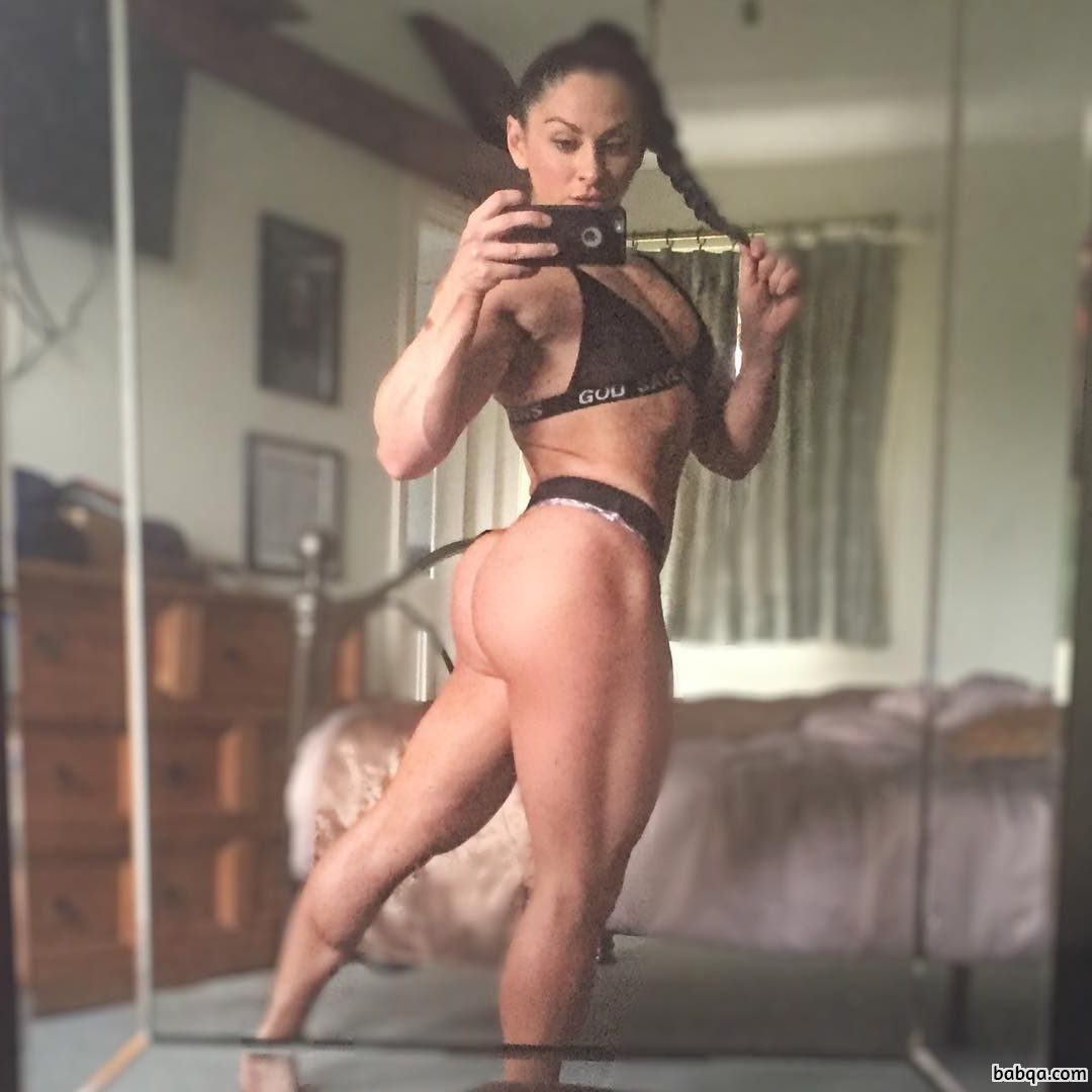 hottest lady with muscular body and toned bottom image from instagram