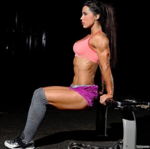 hottest female with muscle body and muscle booty repost from tumblr