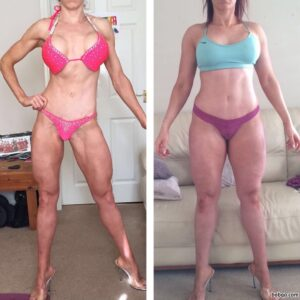 awesome lady with fitness body and muscle arms repost from reddit