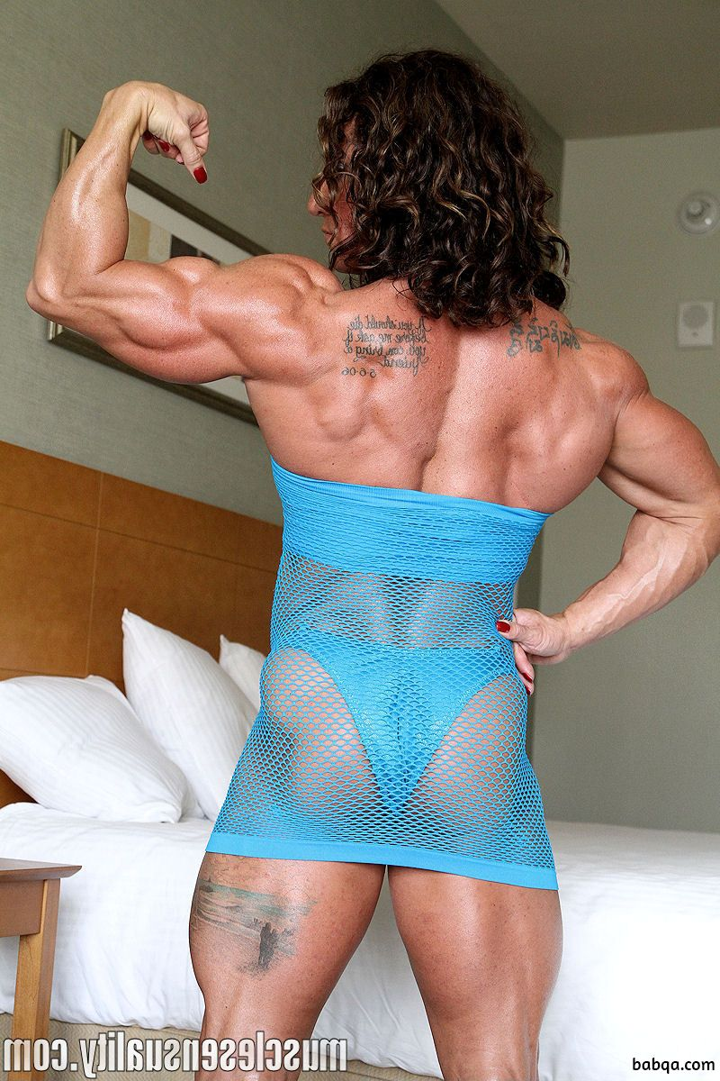 awesome babe with muscular body and toned arms photo from linkedin