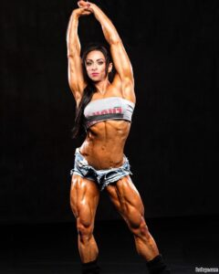 awesome lady with fitness body and muscle bottom image from linkedin