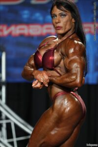 hottest female bodybuilder with muscle body and toned legs pic from reddit