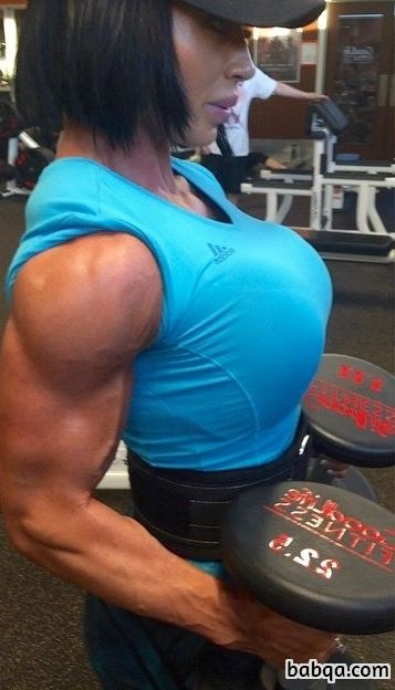 beautiful girl with muscle body and toned biceps pic from facebook