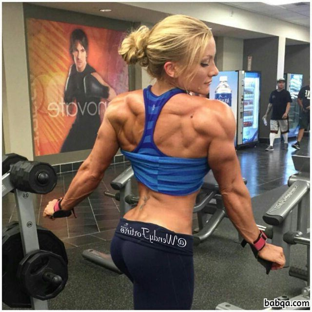 spicy female bodybuilder with fitness body and toned legs photo from linkedin
