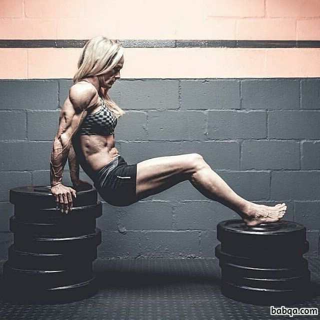 sexy lady with muscular body and toned legs photo from tumblr