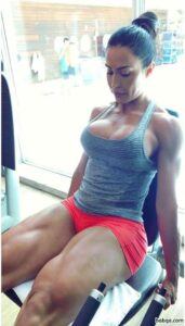 spicy lady with muscular body and toned biceps post from tumblr