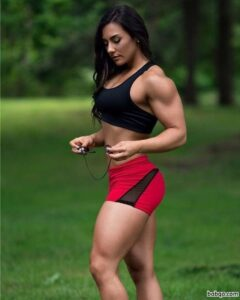 awesome woman with fitness body and muscle ass pic from g+