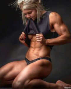 perfect lady with fitness body and muscle legs photo from g+