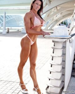 beautiful female with muscle body and toned biceps picture from facebook