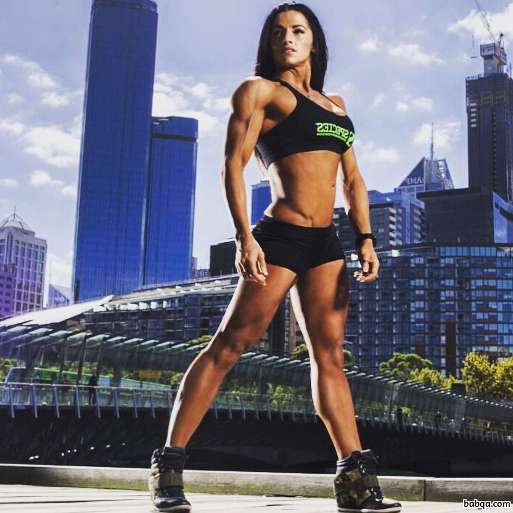 awesome chick with strong body and muscle legs repost from g+