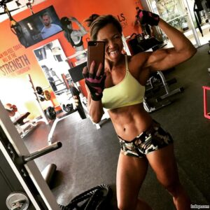 perfect girl with fitness body and muscle booty repost from facebook