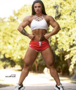hot female with strong body and muscle arms picture from g+