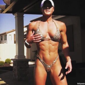 perfect chick with muscle body and toned biceps repost from facebook