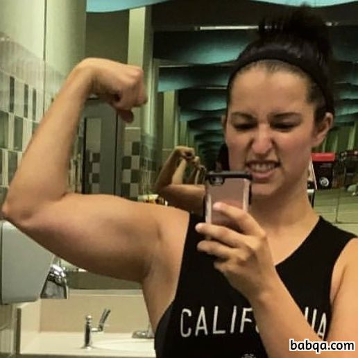 spicy female with fitness body and toned arms photo from reddit