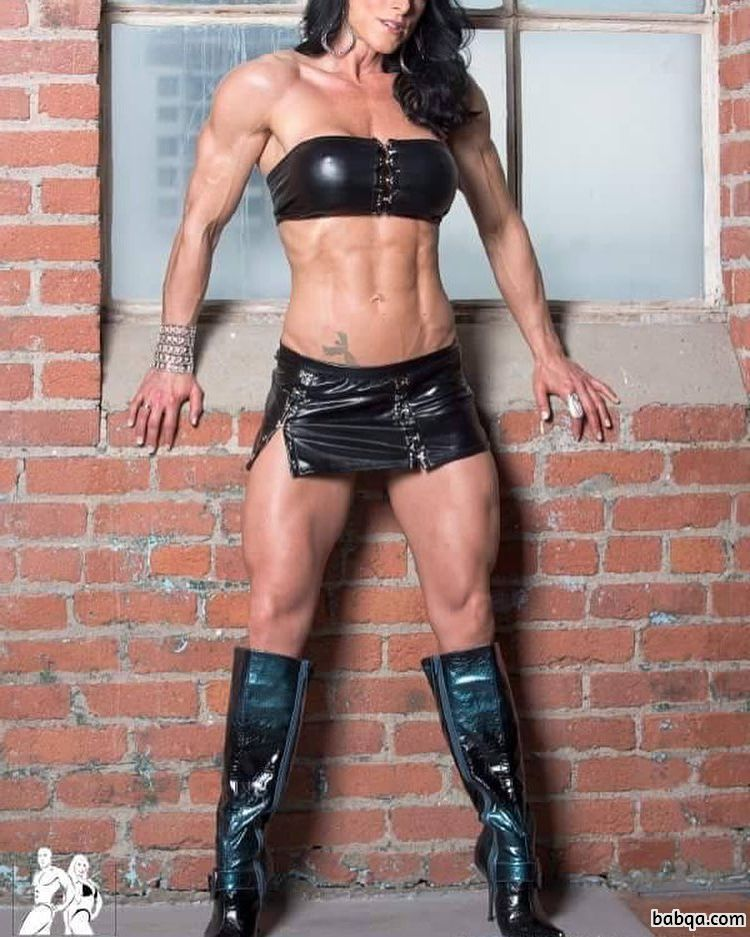 hottest lady with muscle body and toned biceps repost from facebook