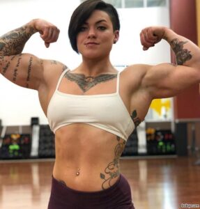 cute babe with fitness body and toned biceps image from facebook