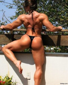 perfect woman with muscular body and muscle arms photo from facebook