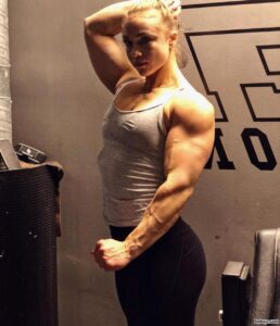 hot female bodybuilder with muscle body and muscle biceps post from tumblr